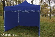 3 x 3 méteres Alap minőségű Mobilsátor Oldalfallal (Kék)