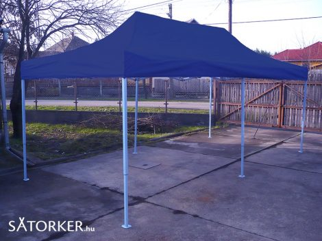 3 x 6 méteres Erős minőségű Mobilsátor Oldalfal nélkül (Kék)
